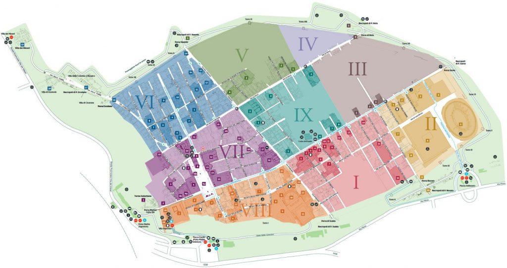 Cartina Pompei – la mappa per visitare gli scavi