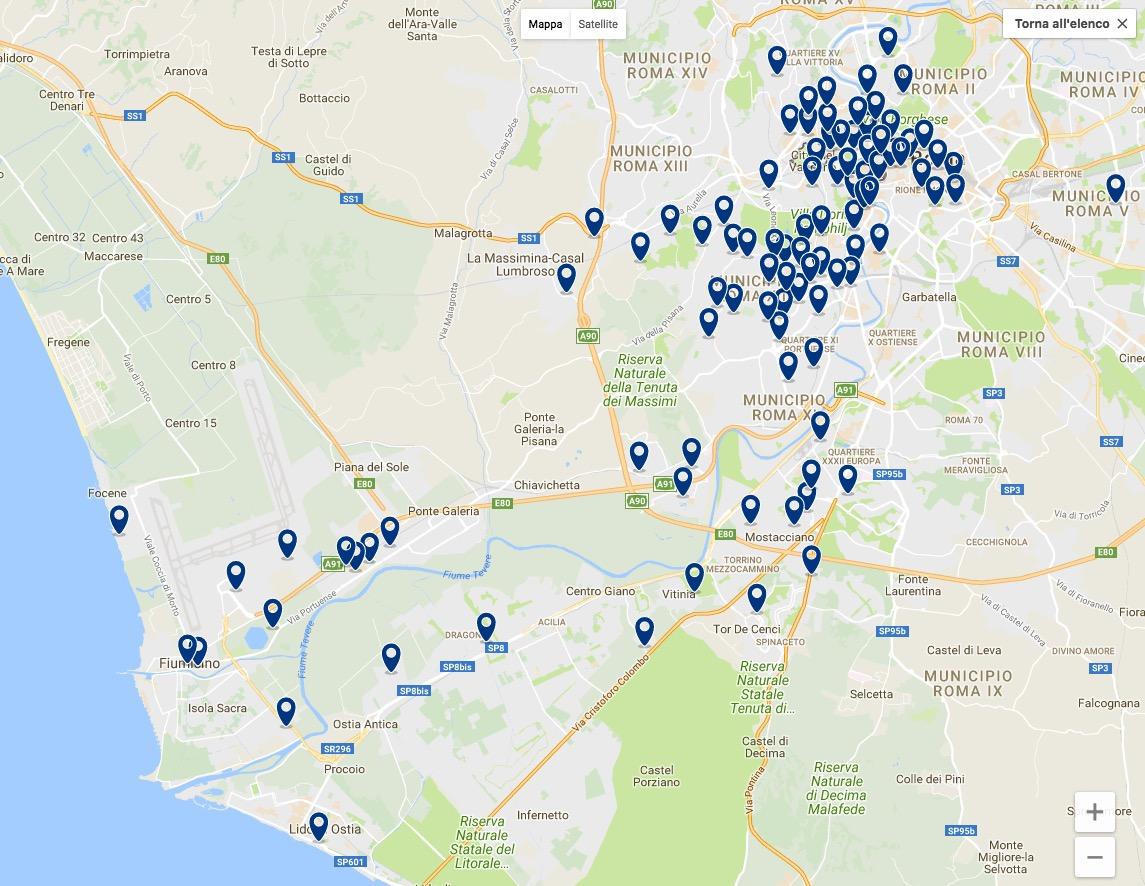 Hotel Roma Fiumicino Aeroporto mappa