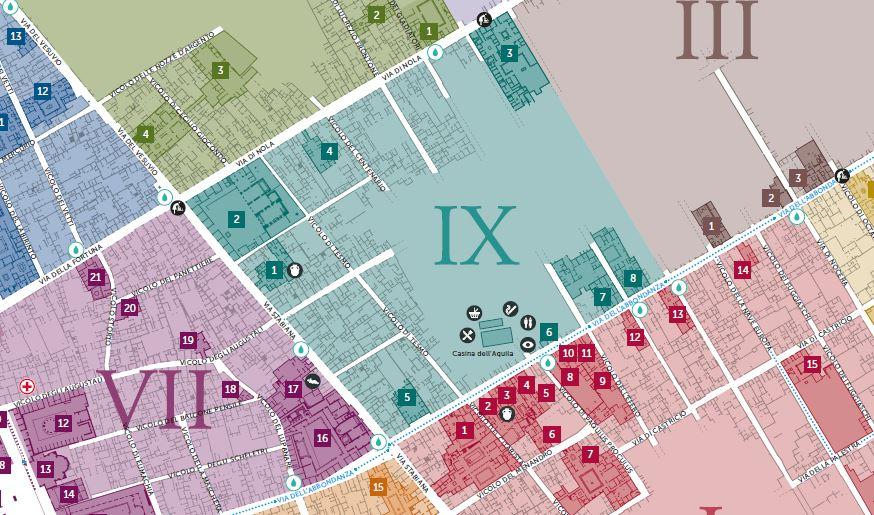 Pompei cartina mappa Regio IX