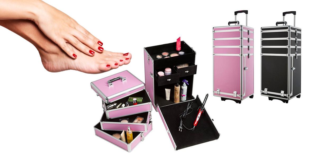 Valigia nail art ricostruzione unghie - beauty case professionale