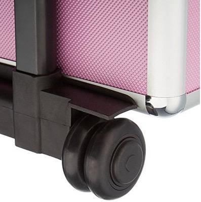 Valigia trolley nail art con ruote rotelline trasporto