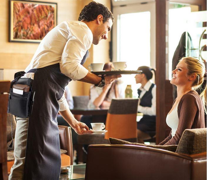 Borsa cameriere portamonete con fondina per ordini