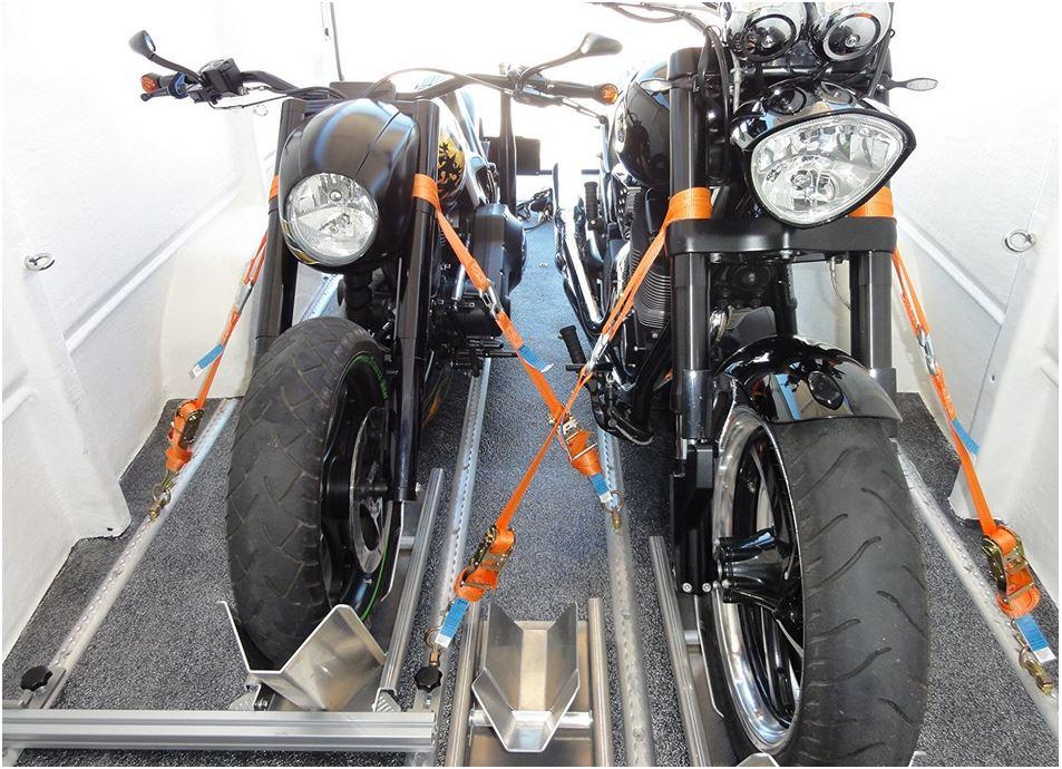 Cinghia trasporto moto ruota anteriore blocco