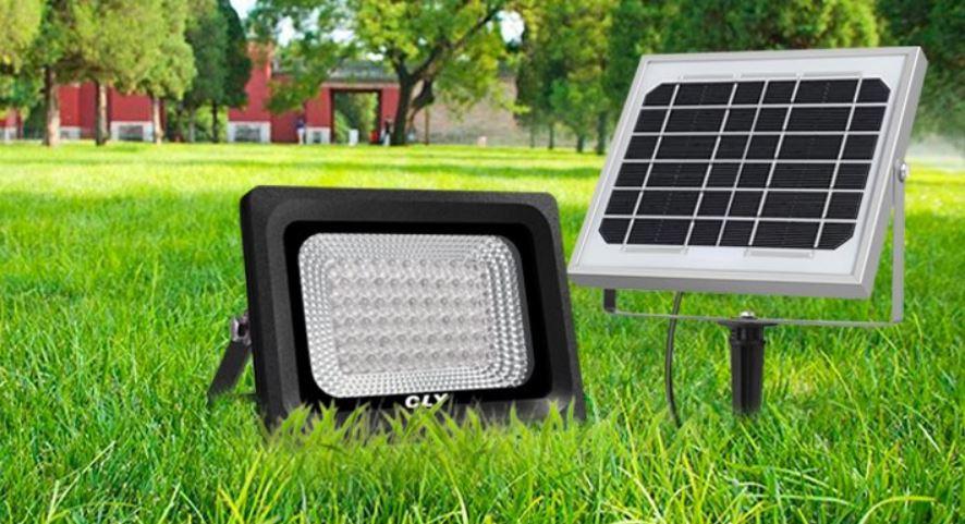 Faretto solare led esterno pannello solare