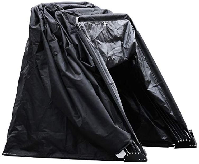 Garage pieghevole moto tenda pioggia grandine polvere