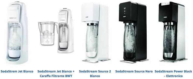 Gasatore acqua frizzante sodastream modelli prezzi