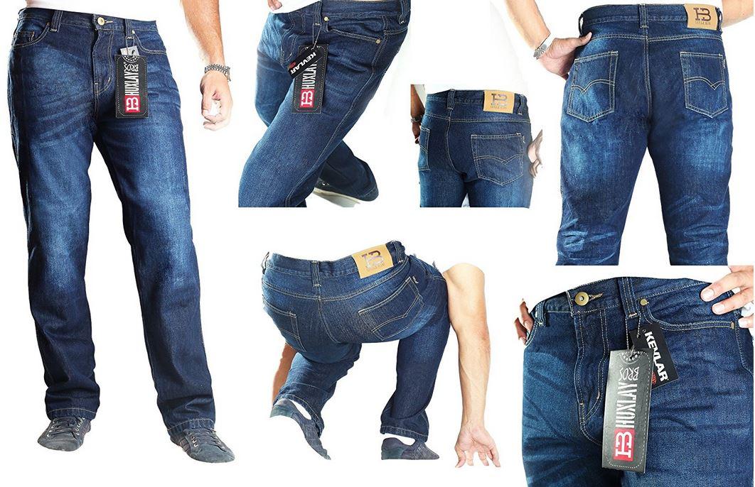 Pantaloni jeans moto uomo e donna kevlar