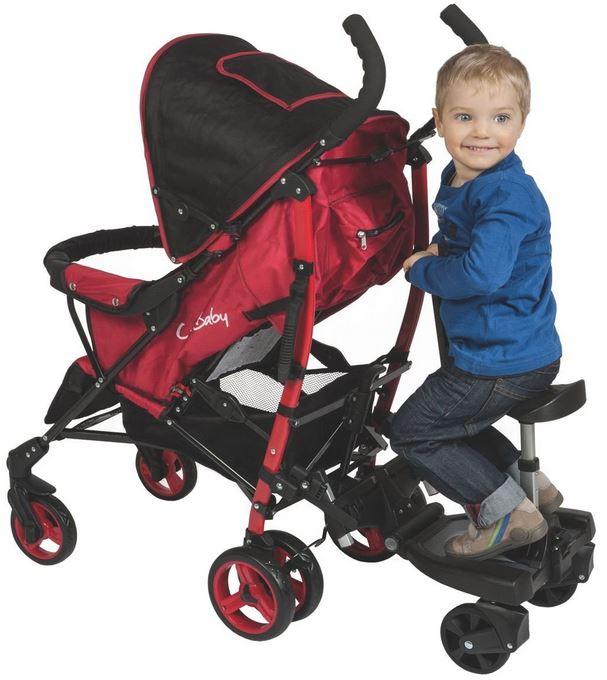 Pedana porta bambino con seduta due bambini