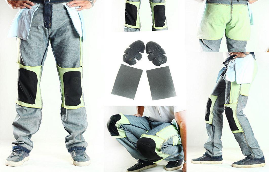 Protezioni kevlar pantaloni jeans moto