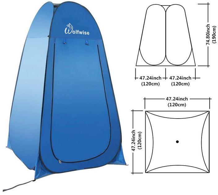 Tenda doccia campeggio misure dimensioni prezzo