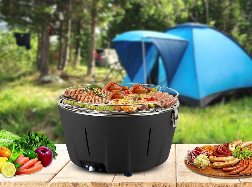 Barbecue da campeggio senza fumo portatile leggero